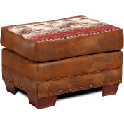 American Furniture Classics Deer Valley Ottoman, 100% Cotton Tapestry