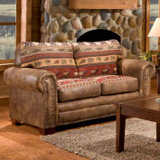 American Furniture Classics Sierra Lodge Loveseat, 100% Cotton Tapestry