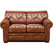 American Furniture Classics Deer Valley Loveseat, 100% Cotton Tapestry