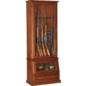 American Furniture Classics 898 Wood Slanted Base Gun Storage Cabinet, 12 Long Guns