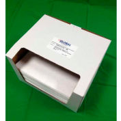 """Global Industrial Hydrocarbon Based Oil Sorbent Pad, Medium Weight, 16"""" x 18"""", White, 100/Pack"""