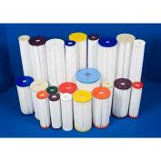 Global 50 Micron Water Filtration Cartridge, Std. Pleated, Polypropylene, 2-3/4 Dia. X 9-3/4H - Pkg Qty 50
