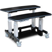 "Dual Tier Cart™ Rectangular - Black 48""L x 36""W x 34""H"