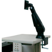 LCD / Flat Panel Monitor Mount Arm w/ VESA Plate & Table Clamp - Black
