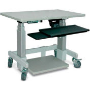 "Single Tier Cart™ Rectangular - Grey 36""W x 24""D x 36""H"