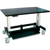 "Single Tier Cart™ Rectangular - Black 48""W x 24""D x 36""H"