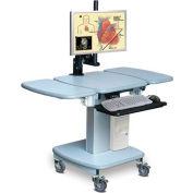 "Telescopic Cart™ w/ 2 Extensions - Grey 24""W x 24""D x 28""H"