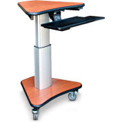 "Telescopic Cart™ w/ Keyboard Tray - Wild Cherry 30""W x 24""D"
