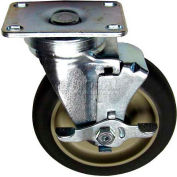 Plate Mount Caster W/Brake 5 W 2-3/8 x 3-5/8 For Imperial, IMP1061