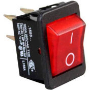 Warmer Switch, 125/250V, 16A, Black W/Red Light, For Cecilware, L155A