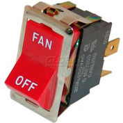"""Fan Switch 7/8 x 1-1/2"""" DPST For Montague, MTG23128-2"""