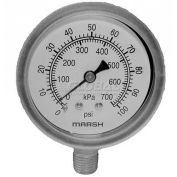 "Pressure Gauge, 2-1/2"" Dia., 0-100PSI, For Jackson, 6685-100-01-00"