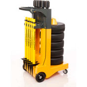"""Banner Stakes Standard Cart Package, Yellow """"Closed for Maintenance"""" Banner"""