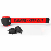 "Banner Stakes MH5009 - 30' Magnetic Wall Mount Barrier, ""Danger-Keep Out"" Banner"