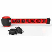 "Banner Stakes MH5010 - 30' Magnetic Wall Mount Barrier, ""Danger High Voltage Keep Out"" Banner"