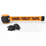 "Banner Stakes MH5013 - 30' Magnetic Wall Mount Barrier, ""Danger - Forklift Traffic"" Banner"