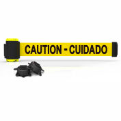 Banner Stakes MH7002 - 7' Magnetic Wall Mount Barrier, Caution-Cuidado Banner