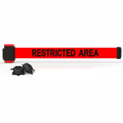 "Banner Stakes MH7007 - 7' Magnetic Wall Mount Barrier, ""Restricted Area"" Banner"