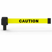 Banner Stakes PLUS Banner Head, 15' Banner, Yellow Double-Sided-Caution