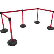Banner Stakes PL4596 PLUS Barrier Set X5, Danger High Voltage Keep Out , Red