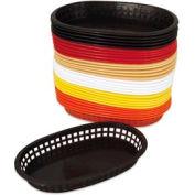 Alegacy 499FB - Flexible Oval Fast Food Basket, Brown - Pkg Qty 3