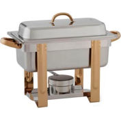 "Alegacy AL324GA - The Original Six In One Chafer with Gold Trim 1/3""x2"" and 1 Pan size 1/3""x4"""