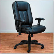Alera CC Series Executive High-Back Swivel/Tilt Leather Chair Black