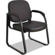 Alera Reception Guest Chair - Vinyl - Black