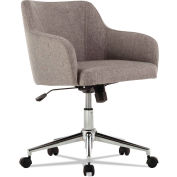 Alera® Modern Mid-Back Chair - Fabric - Gray Tweed - Captain Series