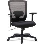 Alera® Mesh Mid-Back Swivel Chair - Black - Envy Series