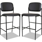 Alera® Faux Leather Stool Without Arms - Black - Sorrento Series - 2/Pack