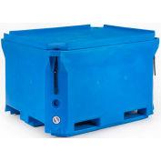 """Agri-Plastics Insulated ArcticBin 1000-50197 - 2000 Lbs. Capacity 58""""L x 46""""W x 35""""H, Blue"""