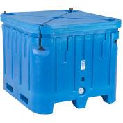 """Bonar Plastics Polar Insulated Box with Lid PB1545 - 1500 Lbs. Capacity 48""""L x 43""""W x 36""""H, Blue"""