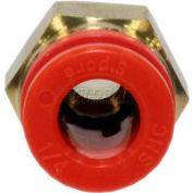 "Smc® Male Connector Kq2h07-34as, Series, 1/4"" O.D. - Pkg Qty 10"