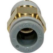 Smc® Male Connector Kq2h08-02as-X29, Kq2 Series, 8mm O.D. - Pkg Qty 10