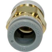 Smc® Male Connector Kq2h10-02as-X34, Kq2 Series, 10mm O.D. - Pkg Qty 10