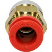 """Smc® Male Connector Kq2h11-35as-X34, Kq2 Series, 3/8"""" O.D. - Pkg Qty 10"""
