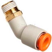 Smc® 45° Male Elbow Kq2k06-01as-X12, Kq2 Series, 6mm O.D. - Pkg Qty 10