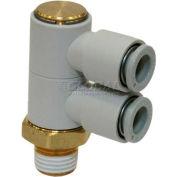 Smc® Double Universal Male Elbow Kq2vd04-01as-X29, Kq2 Series, 4mm O.D. - Pkg Qty 10