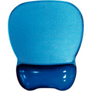 Aidata CGL003B Crystal Gel Mouse Pad with Wrist Rest, Blue