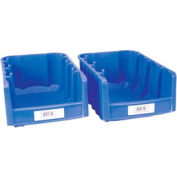 """Label Holder, Bin, 1"""" x 3"""", Clear, Price for Pack of 25"""