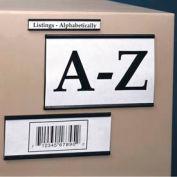 "Magnetic ""C"" Channel Label Holder, 2"" x 8"" (25 pcs/pkg)"