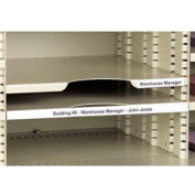 """Label Holders, 3/4"""" x 6"""", Clear, Removable (12 pcs/pkg)"""