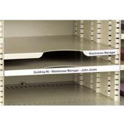 """Label Holders, 2"""" x 6"""", Clear, Removable (12 pcs/pkg)"""