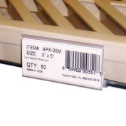 "Wire Shelving (W/ Mats) Label Holder, 3"" x 1-5/16"", Clear (25 pcs/pkg)"