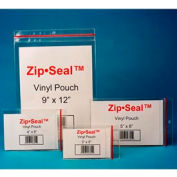 "Zip Seal Vinyl Pouches, 5"" x 8"", Magnetic (25 pcs/pkg)"