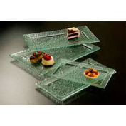 American Metalcraft BG189 - Glacier Platter, 18 x 9, Rectangular, Rimmed, Bubble Glass, Green