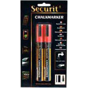 American Metalcraft BLSMA510RD - Securit Chalk Markers, Rain & Smear Proof, Small Tip, Red