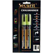 American Metalcraft BLSMA510YE - Securit Chalk Markers, Rain & Smear Proof, Small Tip, Yellow