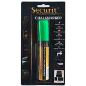 American Metalcraft BLSMA720GR - Securit Chalk Markers, Rain & Smear Proof, Big Tip, Green